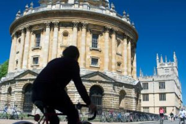 Cycling through Radcliffe Square