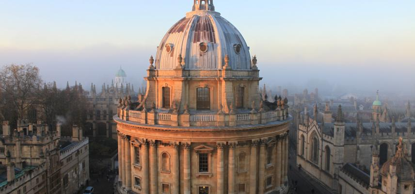 The Radcliffe Camera at sunset